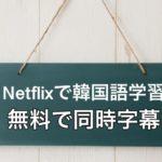 netflixで韓国語の勉強!無料で同時字幕が出る拡張機能を紹介