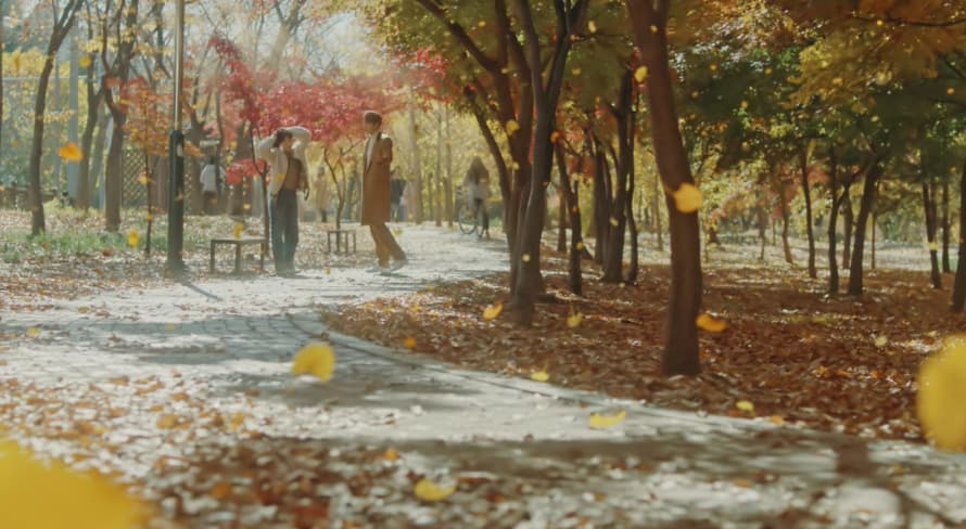 ザ・キング、撮影地、時間が止まった公園