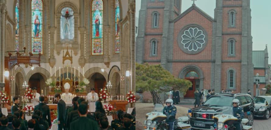 イ・ゴンが参列した聖堂